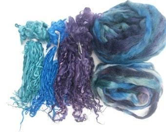 Tailspinning Yarn Kit, Suri Alpaca Long Locks, Suri Alpaca Roving, Yarn Making Kit, Art Yarn Kit