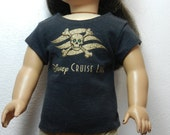 BK Black Tee with Disney Cruise Line Skull Graphic  - 18 Inch Doll Clothes fits American Girl