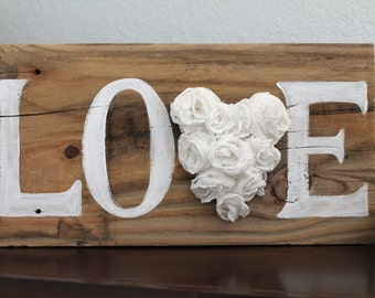 Rustic Painted Love Sign