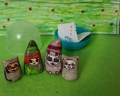 Little Weirdlings, bubble pack,adorable,witches,werecats,spooky,sweet,toy,stocking stuffer,gifts,fun,figures,clay
