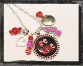 Girls Valentine Necklace BE MINE Cameo Set Valentines Day Necklace #V5 Ships within 3 days of order.