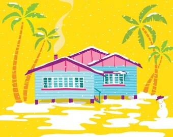 Cold Snap // Queenslander Digital Illustration Print