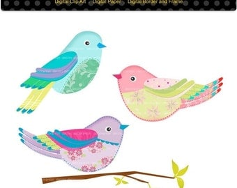 Bird Clip Art | Birds Clipart,Digital Collage Birds,Bird,spring bird,instant download Digital clipart, PNG and Jpg format, ON SALE