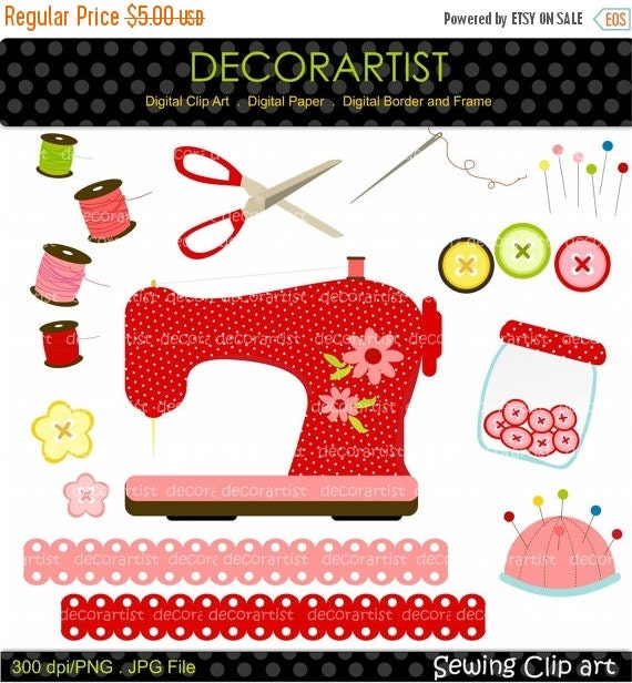 On sale sewing clipart sewing machine clipartcraft clipart for Arts and crafts sewing machine