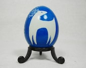 Blue Reindeer Christmas Design on Duck Egg - A05D