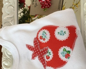 Red Strawberry Onesie/T-Shirt/Bodysuit for Baby
