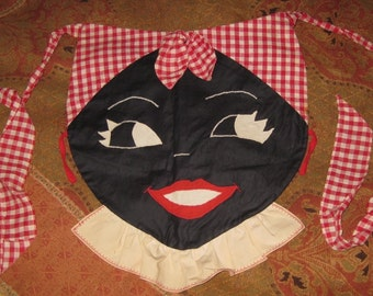 Vintage Black Americana Hand Made Mammy Apron