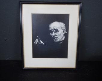Vintage Portrait / Signed Illustration