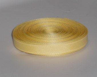 Banana Yellow 3/8 inch Solid Grosgrain Ribbon 10 yards