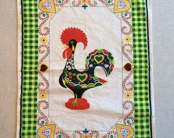 Vintage Rooster Tea Towel