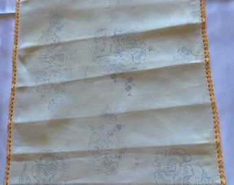 Vintage Dresser Scarf Stamped to Embroider
