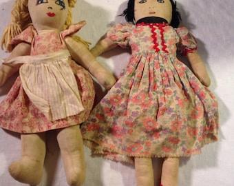 Vintage Rag Dolls  (L-  )