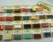 Vintage Glass Seed Beads Mill Hills In Original Containers Lot of 29
