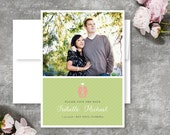 Destination Kissing Seahorse Save The Date Card  - Printable or Printed Cards and Envelopes