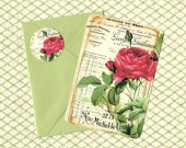 Note Cards, French Invoice, Roses, French Style, Stickers, Stationary, Gift Set