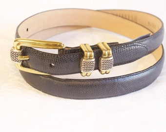 Vintage black Brighton Leather Belt size XL/36