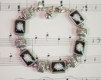 Vintage Authentic Brighton Bracelet, Silver beaded Bracelet, Brighton Jewelry