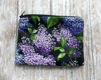 Lilac Zippered Pouch - Medium, Christmas in July Sale, 20% off