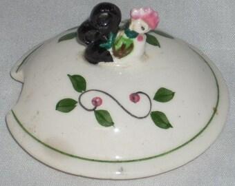 Vintage Ceramic Rooster Finial Jam Jelly Jar Lid