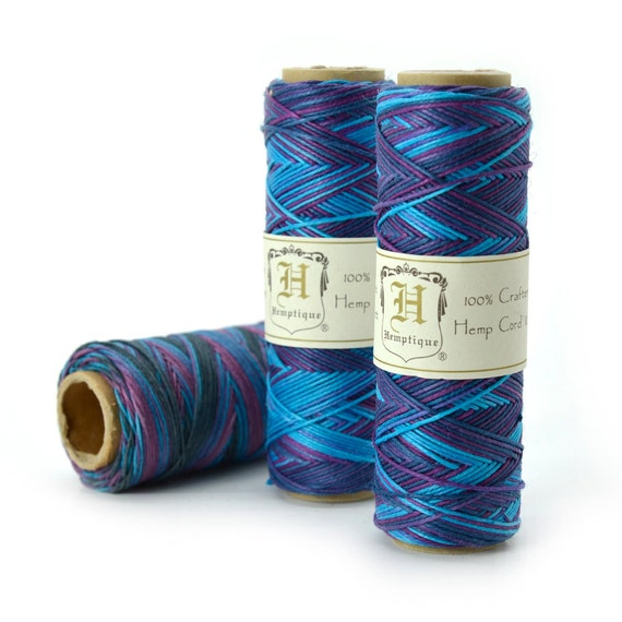 Hemp Twine, 0.5mm,  205 Feet, Jewelry Cord, Hemp Cord, Purple Haze -TW22
