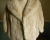Mink Fur Stole  /  Tan Stole / Mink Jacket