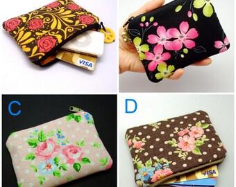 BIG SALE - Small zipper pouch / coin purse / ear phone bag / card holder (padded) (GP2)