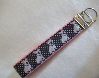 French Bulldog Key Wristlet / Fob