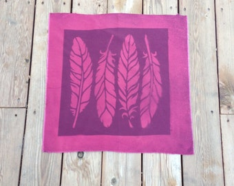 Beautiful Shades of Burgundy  Discharge Dyed 100% Cotton Feather Fabric  for Sewing, Quilting or Home Decor
