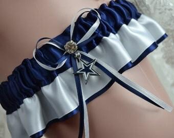 Dallas Cowboys Theme- Wedding Keepsake Garter -Wedding  Keep Garter -Bridal Garter Sport Garter