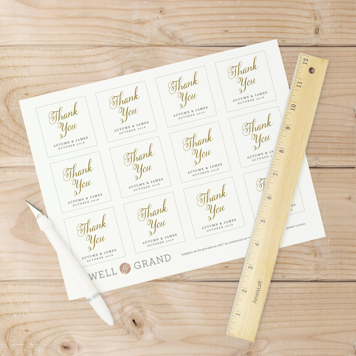 Wedding Favor Tags Word Template : Wedding Favor Tags, Favor Tag Template, Romantic Script, Word ...