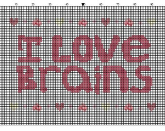I Love Brains ****Sampler PATTERN