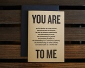 You are ... to me (The Tinfoil Hat Card)
