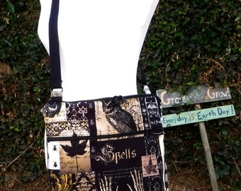 Nevermore Edgar Allan Poe: Cross body purse/bag/tote made to order