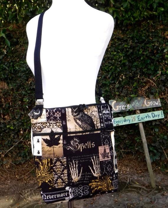 Nevermore Edgar Allan Poe: Cross body purse/bag/tote made to order