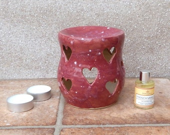 Oil burner set scented oil tealight diffuser hand thrown stoneware ceramics