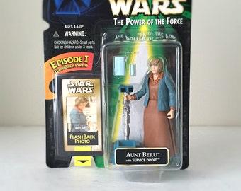 Aunt Beru, Vintage Star Wars Action Figure from A New Hope - 1990's Kenner Toy in Original, Unopened Packaging - Star Wars Figure, Kids Toy