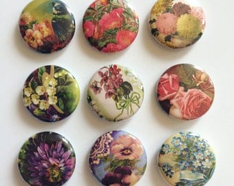 Vintage Floral Magnet Collection