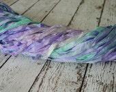 New - Hand Dyed ribbon ICE CAPADES ENCORE glitters, 5 yards