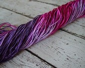 Pre-Cut SALE -  Hand Dyed SUGARED BERRIES  cord, 12 yards