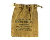 Vintage Canvas Bank Bag - Deposit with Central Trust Co. Harrisburg