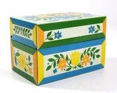 Retro Tin Recipe Box
