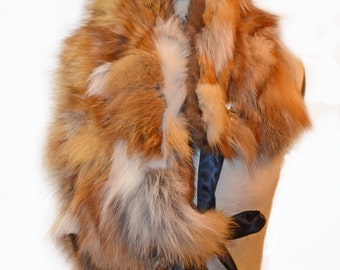 Red Fox and Mink Neck Warmer- 4 Way Scarf
