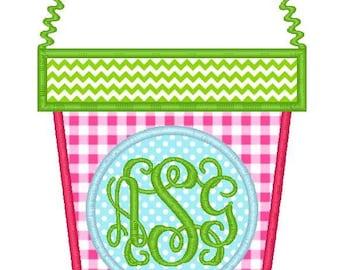 Sand Bucket Machine Embroidery Applique Design