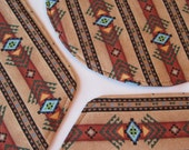 Southwestern Wedge Placemats Reversible with circular mat Brown Turquoise Aztec Placemats Southwest Sedona wedge Placemats for a round table