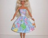Handmade barbie clothes, CUTE dress and bag 4 barbie doll