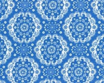 Flower Sugar 2015 Fall Collection Cotton Fabric Lecien 31272-77 Dark Blue Doile