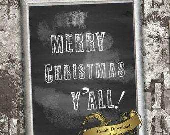 Christmas print sign  in 8x10 Instant download Christmas decor