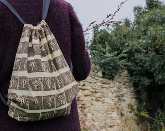 VEGETAL PRINT backpack  *branches
