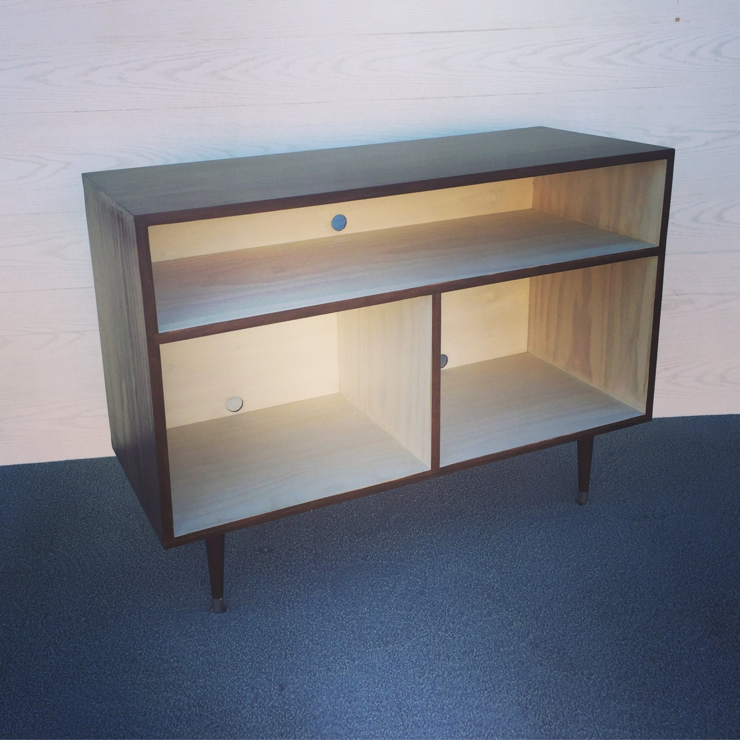 modern console cabinet mid century modern record cabinet tv table media console w 23490