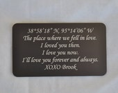 Wallet Card, Where We Met, Love Token for Husbands, Wife, Boyfriends, Girlfriends by JackGlass on Etsy